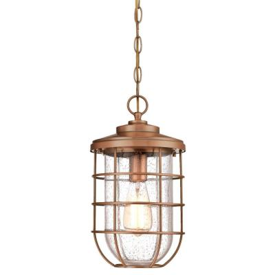 Ferry 1-Light Washed Copper Outdoor Hanging Pendant