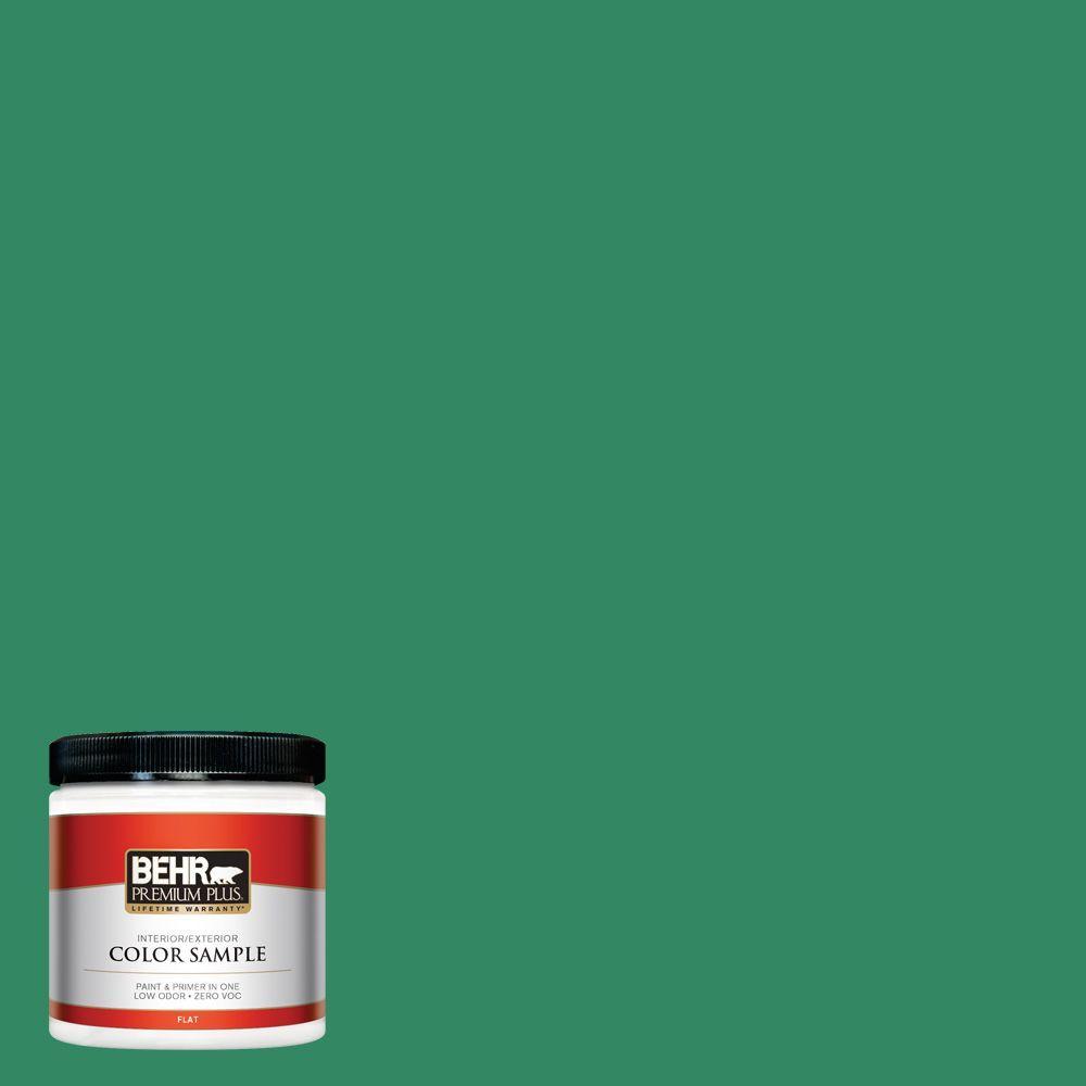 BEHR Premium Plus 8 oz. #P420-6 Exquisite Emerald Interior/Exterior Paint Sample