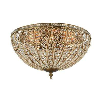 Elizabethan 8-Light Dark Bronze LED Flush Mount