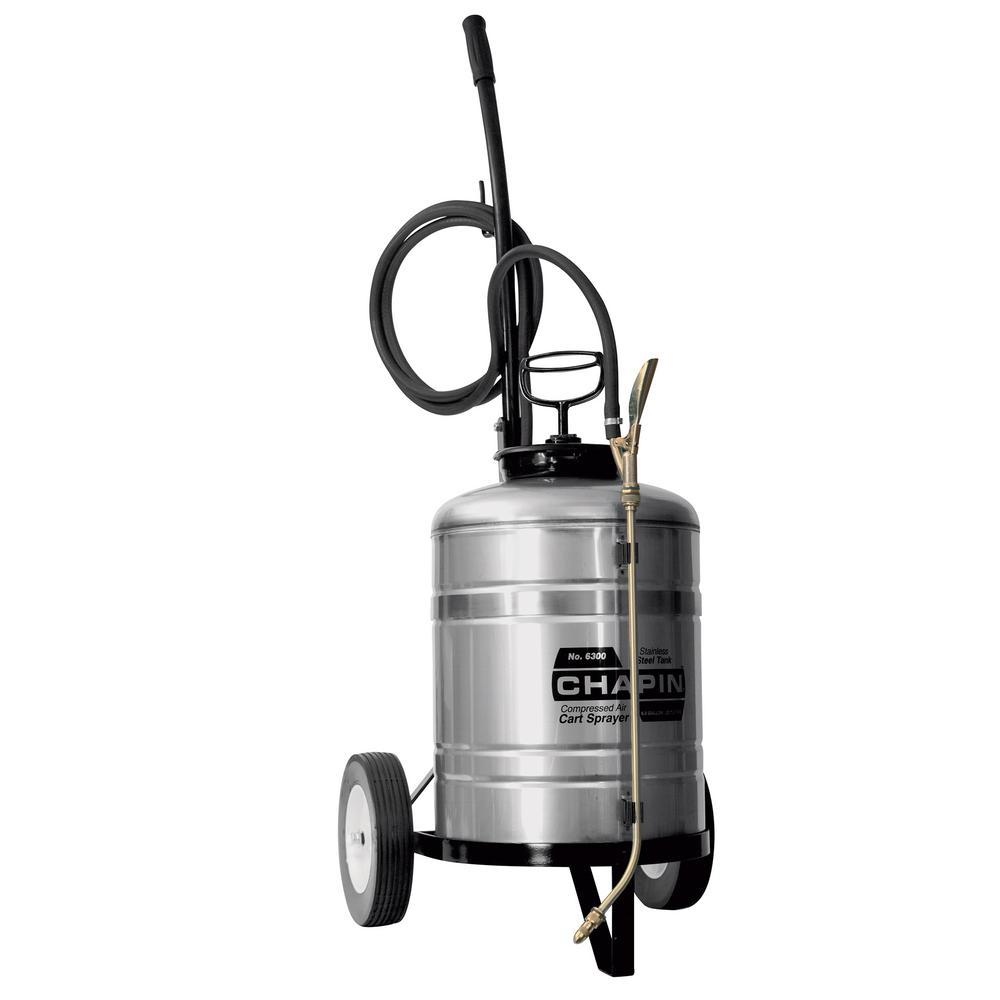 6 Gal. Industrial Stainless Steel Cart Sprayer 6300
