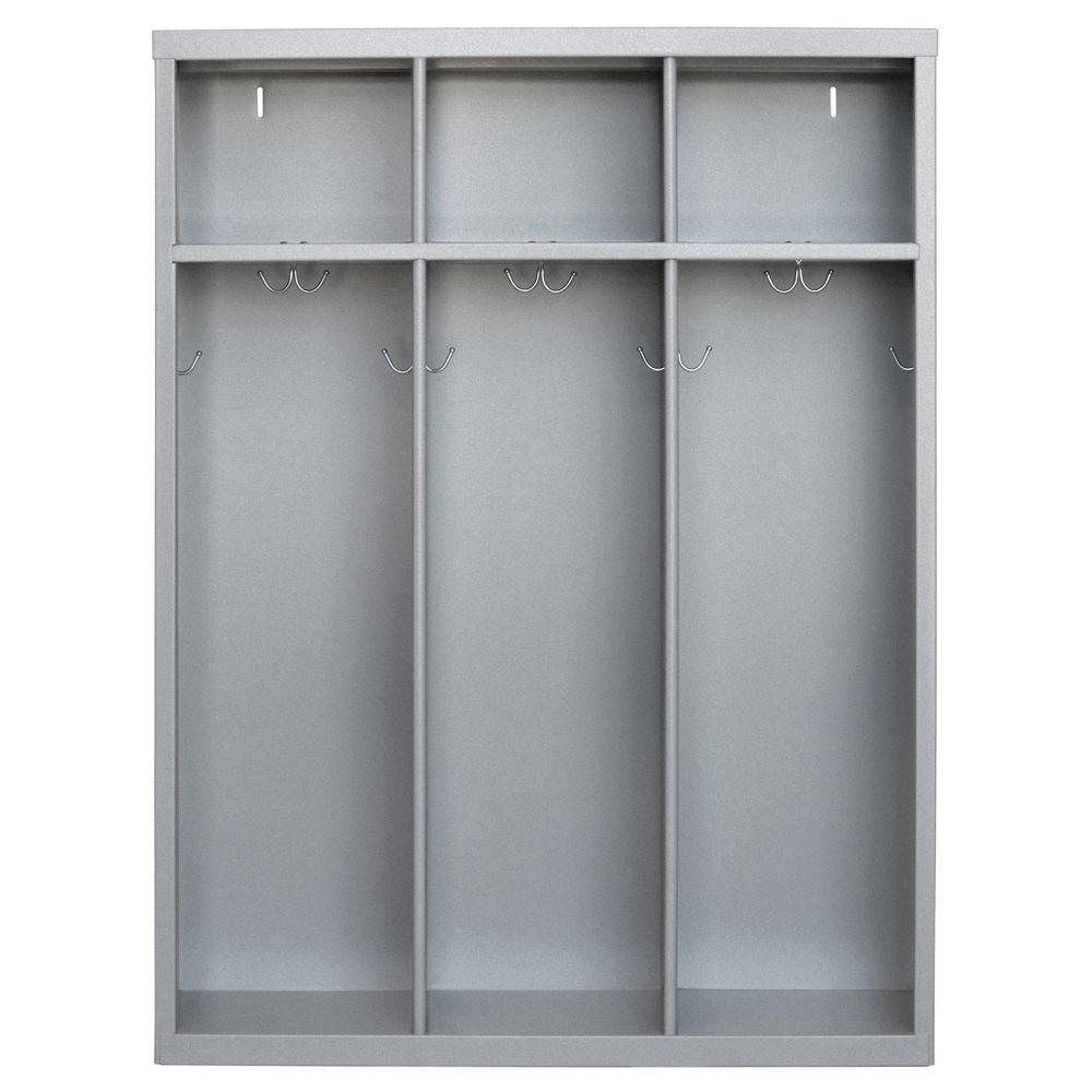 Sandusky 1 Shelf Steel Open Front Kids Locker In Multi Granite
