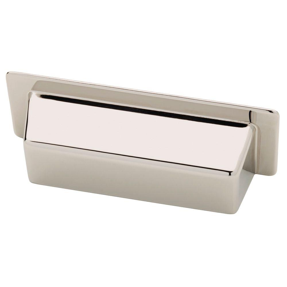 Martha Stewart Living Alcove Bin 3 in. (76mm) Polished Nickel Cup Drawer Pull