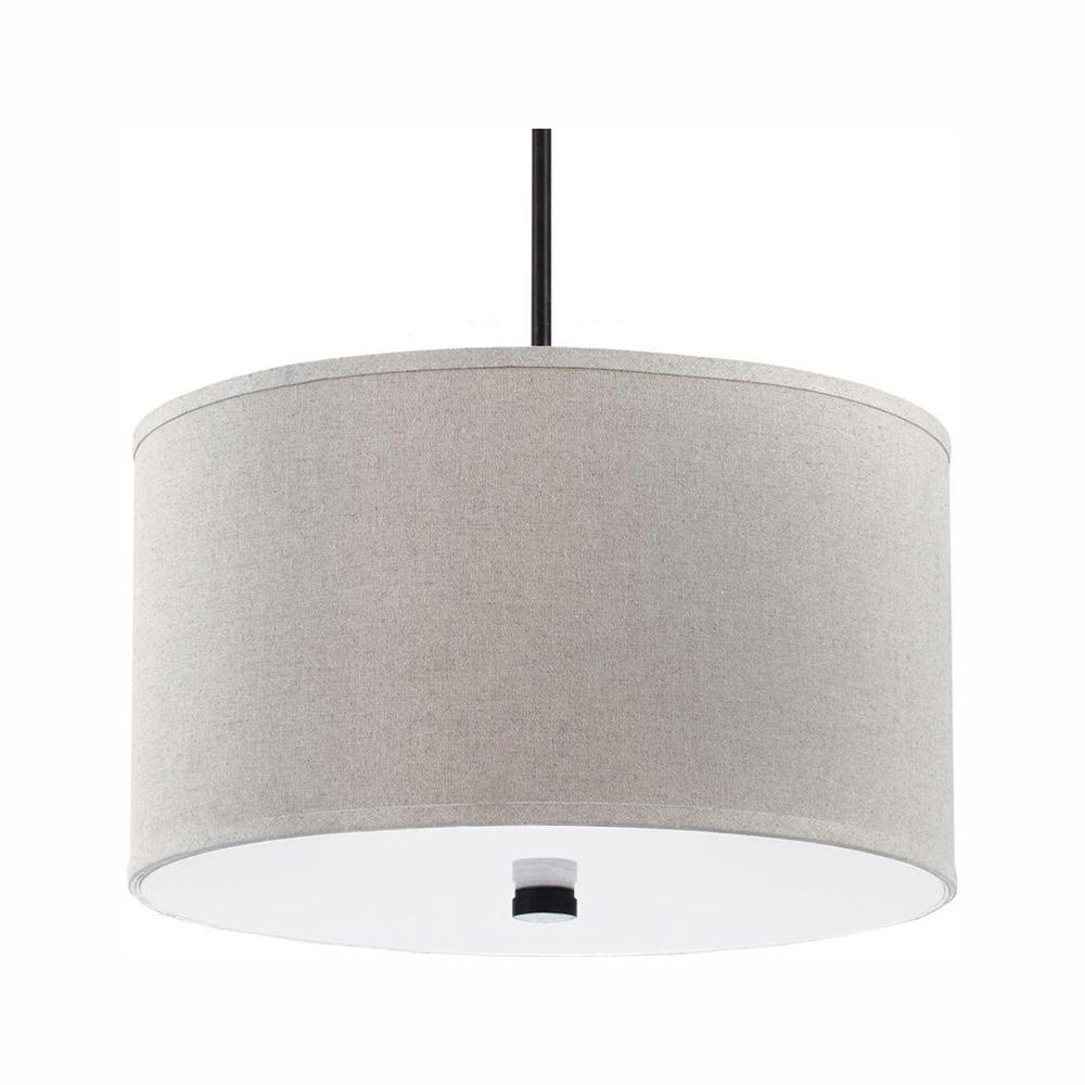 Dayna Shade 3-Light Burnt Sienna Pendant with LED Bulbs