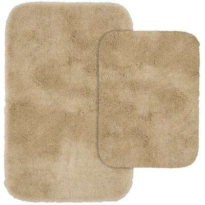 Finest Luxury Set Linen 21 in. x 34 in. Washable Bathroom 2-Piece Rug