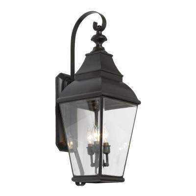 Bristol 3 Light Wall Mount Outdoor Charcoal Sconce