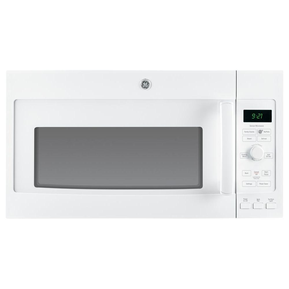 GE Profile 2.1 cu. ft. Over the Range Microwave in White with Sensor Cooking