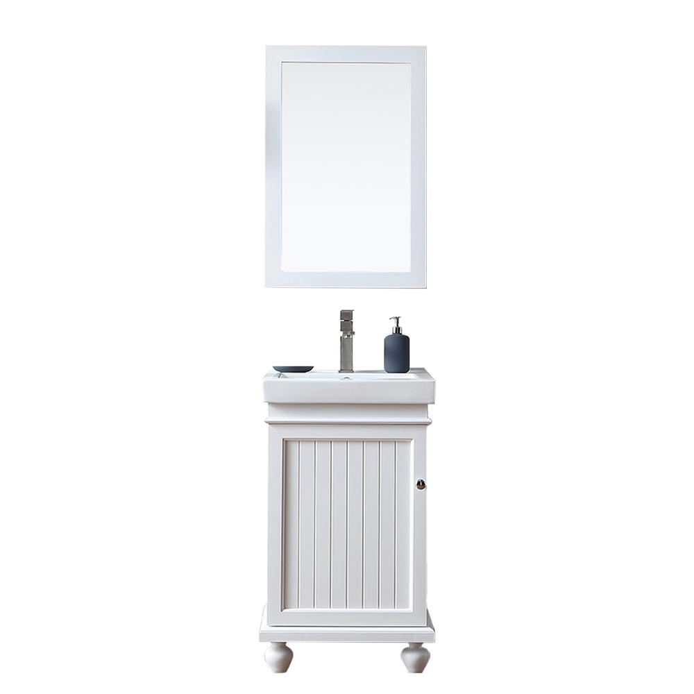W X 16 In. D Vanity In White With