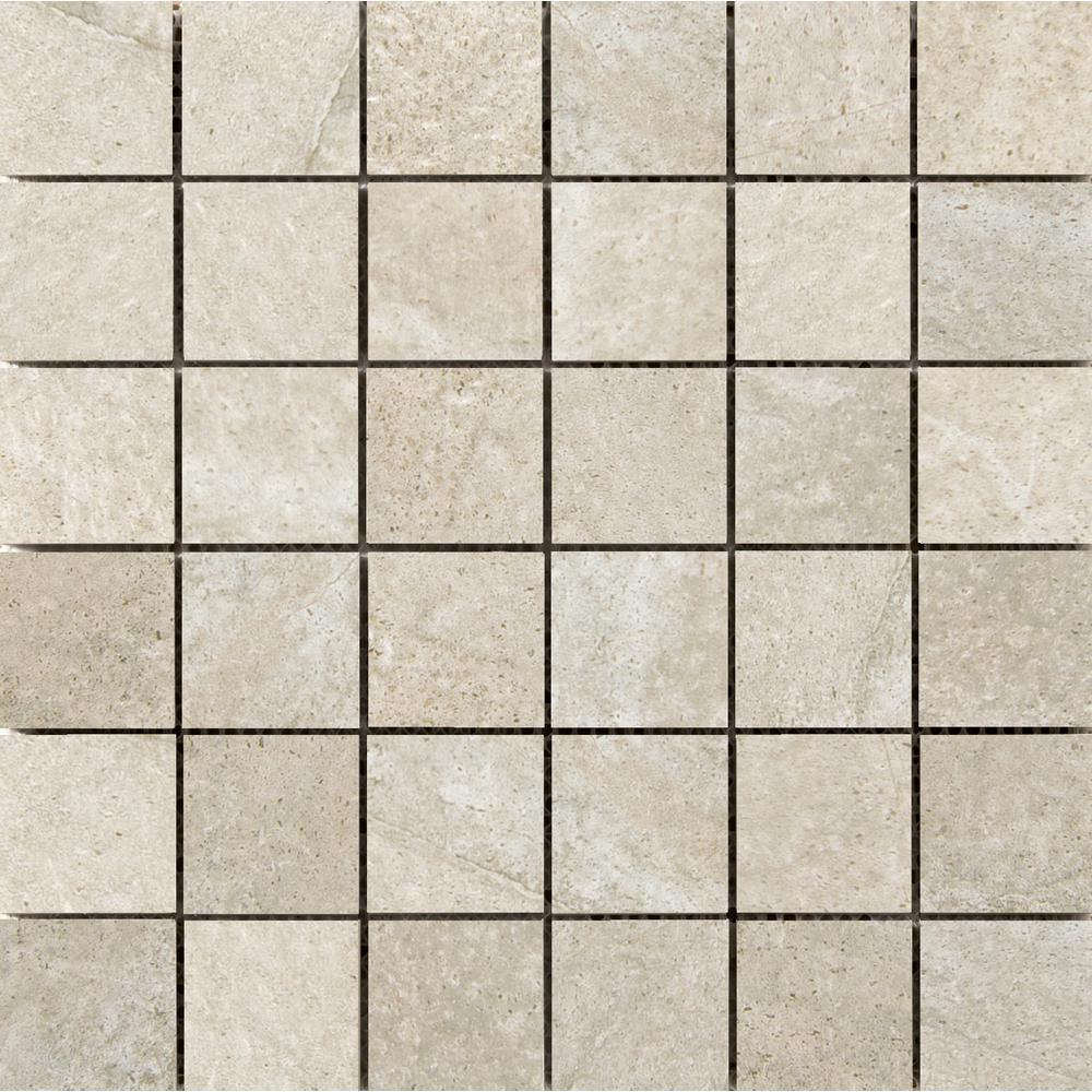Emser Trovata Journal 12.99 in. x 12.99 in. x 9mm Porcelain Mesh-Mounted Mosaic Tile