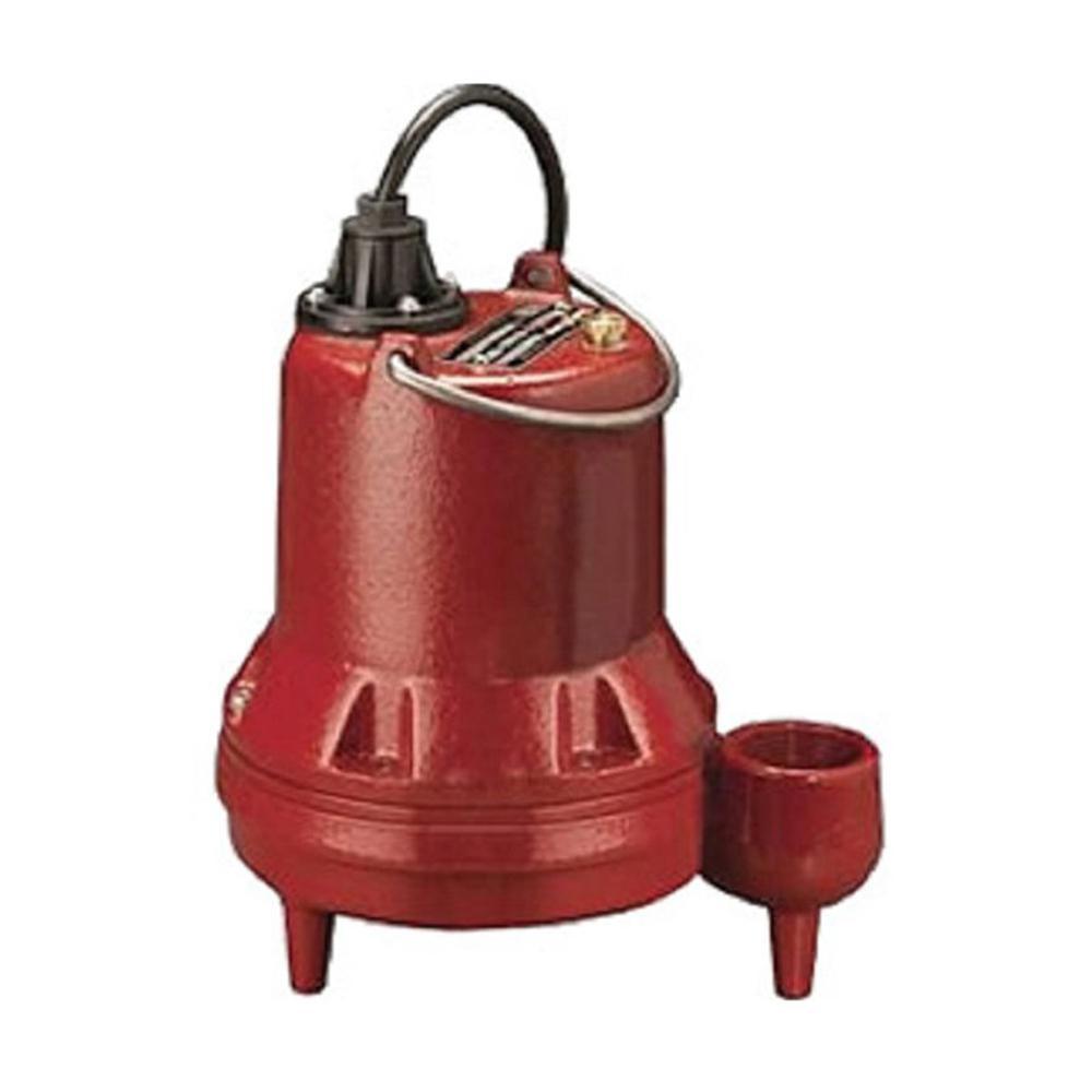 Liberty Pumps LE-Series 1/2 HP Submersible Manual Sewage Pump