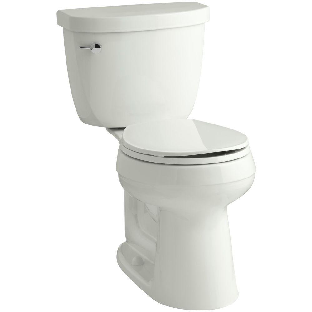 Cimarron Comfort Height 2-piece 1.6 GPF Single Flush Round Toilet with AquaPiston Flush Technology in Dune
