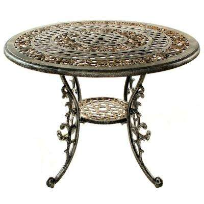 Mississippi Antique Pewter Patio Dining Table
