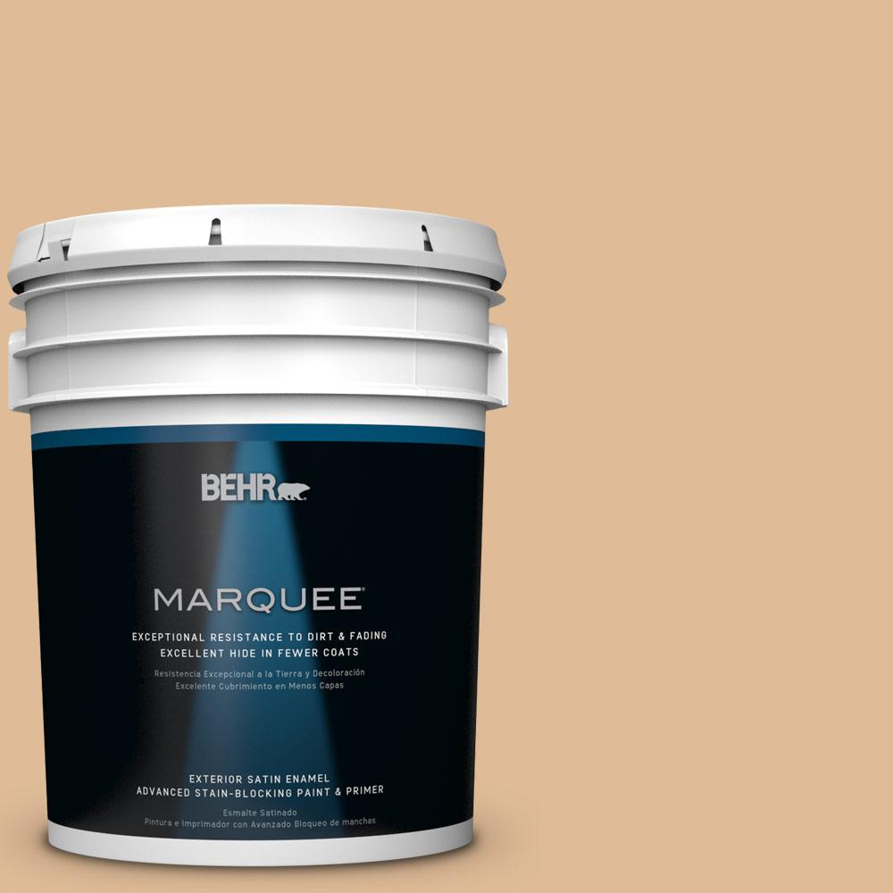 BEHR MARQUEE 5-gal. #S250-3 Honey Nougat Satin Enamel Exterior Paint