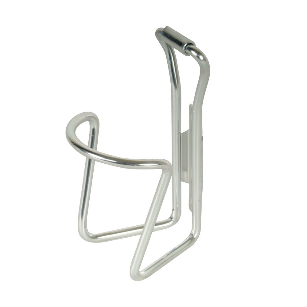 M-Wave Silver Alloy Bicycle Water Bottle Cage in Silver
