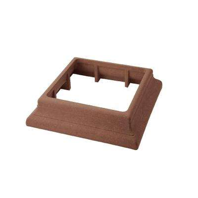 Vantage 5-1/2 in. x 5-1/2 in. Mahogany Composite Beveled Post Trim Collar