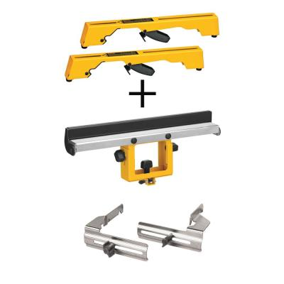 Miter Saw Workstation Tool Mounting Brackets with Bonus Wide Miter Saw Stand Material Support and Miter Saw Crown Stops