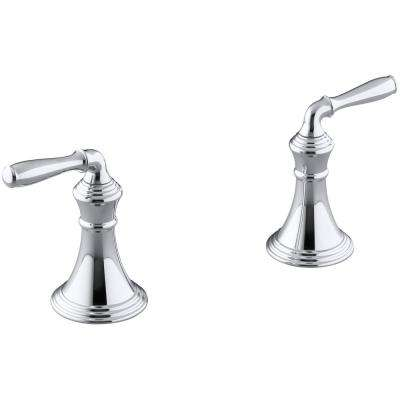 Devonshire 2-Handle Deck-Mount Roman Tub Handle Trim Kit in Polished Chrome (Valve Not Included)