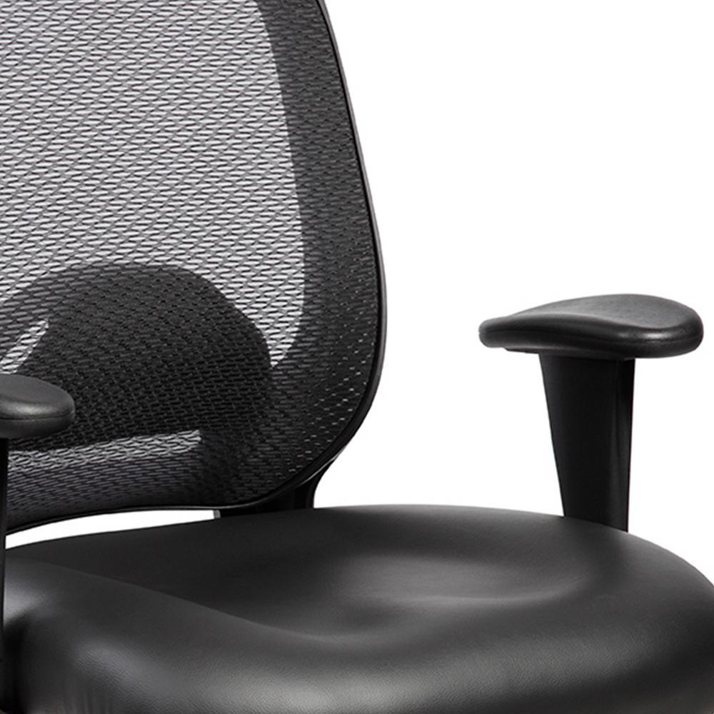 Excellent Techni Mobili Black Comfortable Big And Tall Height Inzonedesignstudio Interior Chair Design Inzonedesignstudiocom