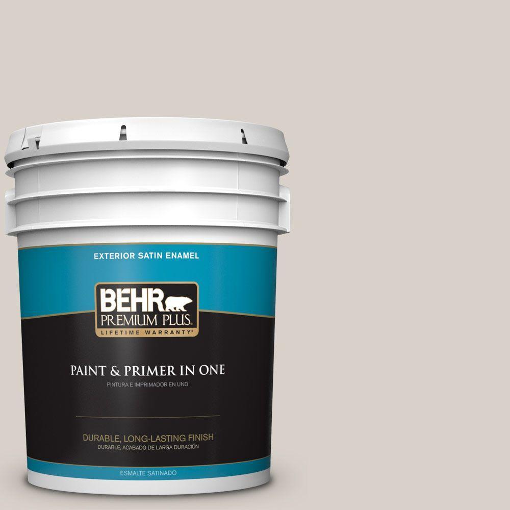 BEHR Premium Plus 5-gal. #T14-7 Offbeat Satin Enamel Exterior Paint