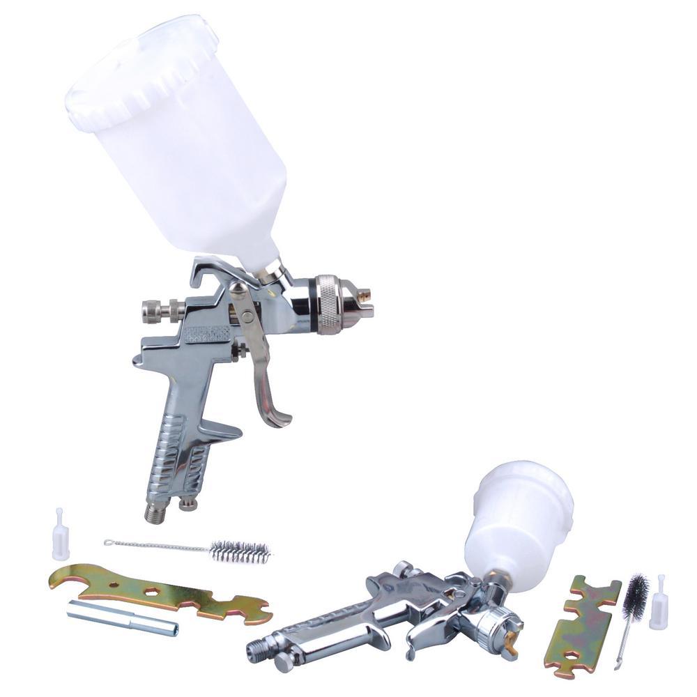 Hvlp Spray Gun Kit >> Steel Core Hvlp Gravity Fed Air Spray Gun Kit 2 Piece