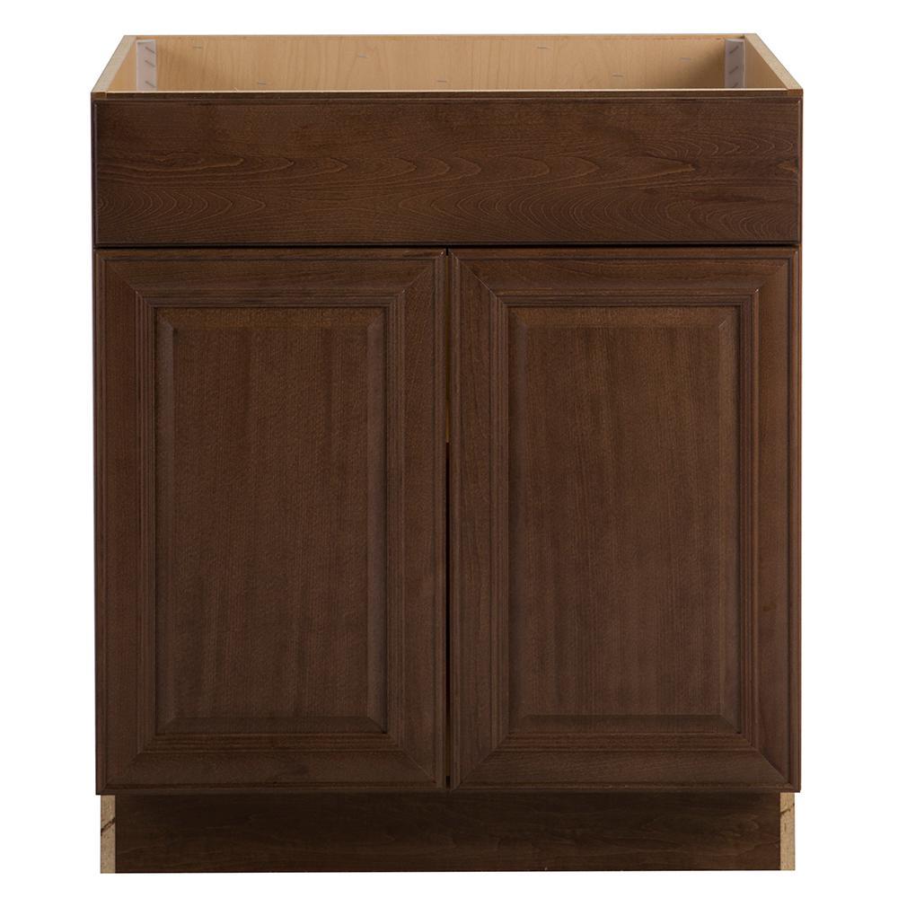 Assembled 30x34.5x24 in. Benton Sink Base Cabinet in Butterscotch