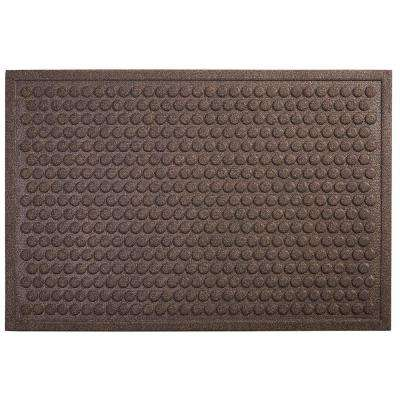 Dots Chocolate 18 in. x 30 in. Impressions Mat