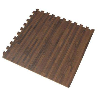 Walnut Printed Wood Grain 24 in. x 24 in. x 3/8 in. Interlocking EVA Foam Flooring Mat (24 sq. ft. / pack)
