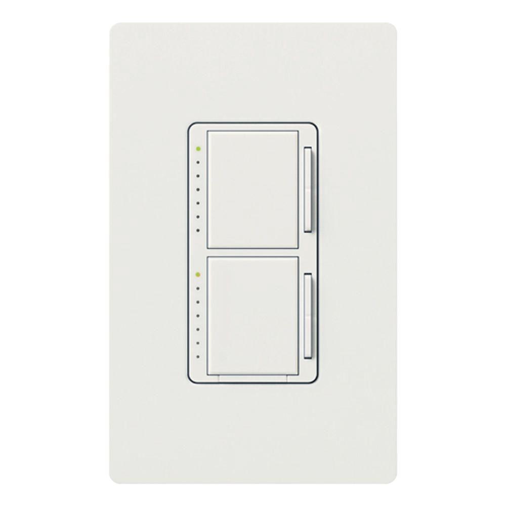 Maestro 300 Watt Single Pole Dual Dimmer Biscuit