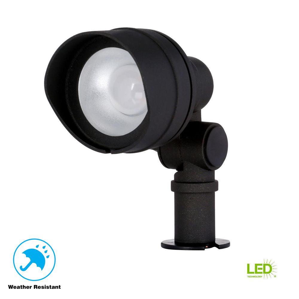 Low-Voltage 20-Watt Equivalent Black Outdoor Integrated LED Landscape Flood Light