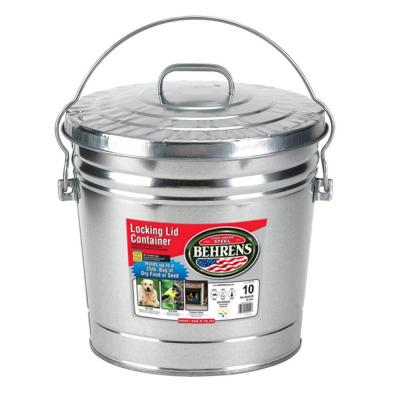 10 Gal. 15 in. H x 16 in. Dia Garbage Pail with Lid