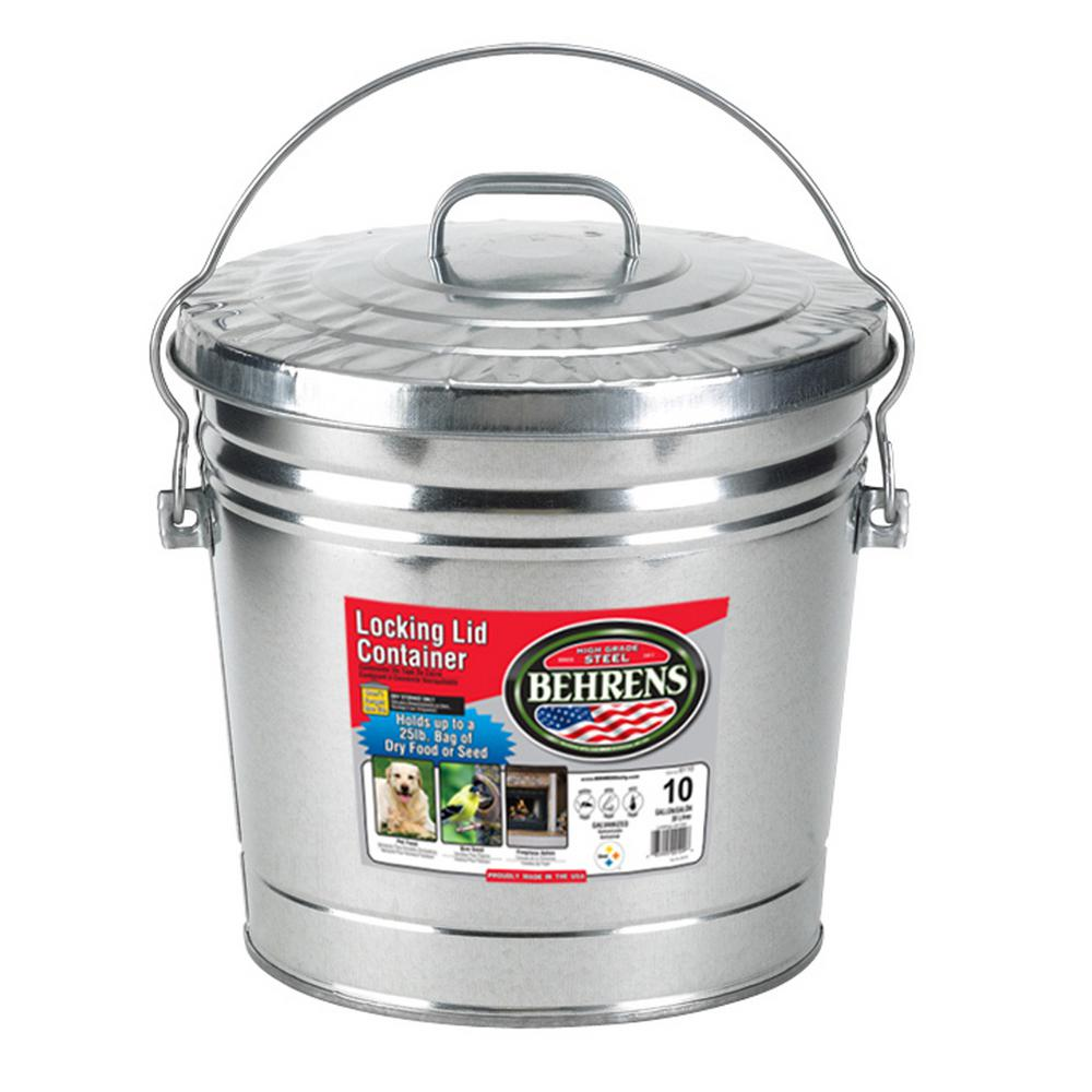 10 Gal. 15 in. H x 16 in. Dia Garbage Pail