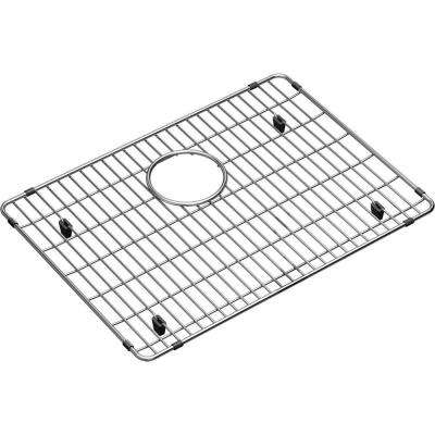 Crosstown 19.375 in. x 14.125 in. Bottom Grid for Kitchen Sink in Stainless Steel