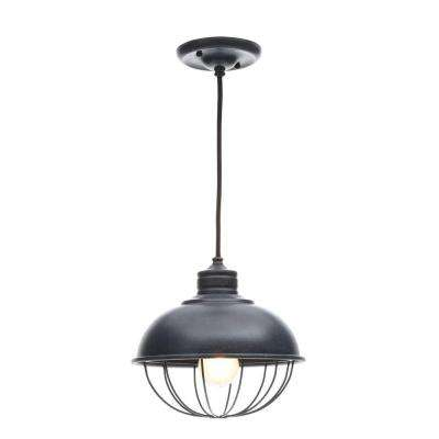 Urban Renewal 1-Light Antique Forged Iron Outdoor Hanging Pendant