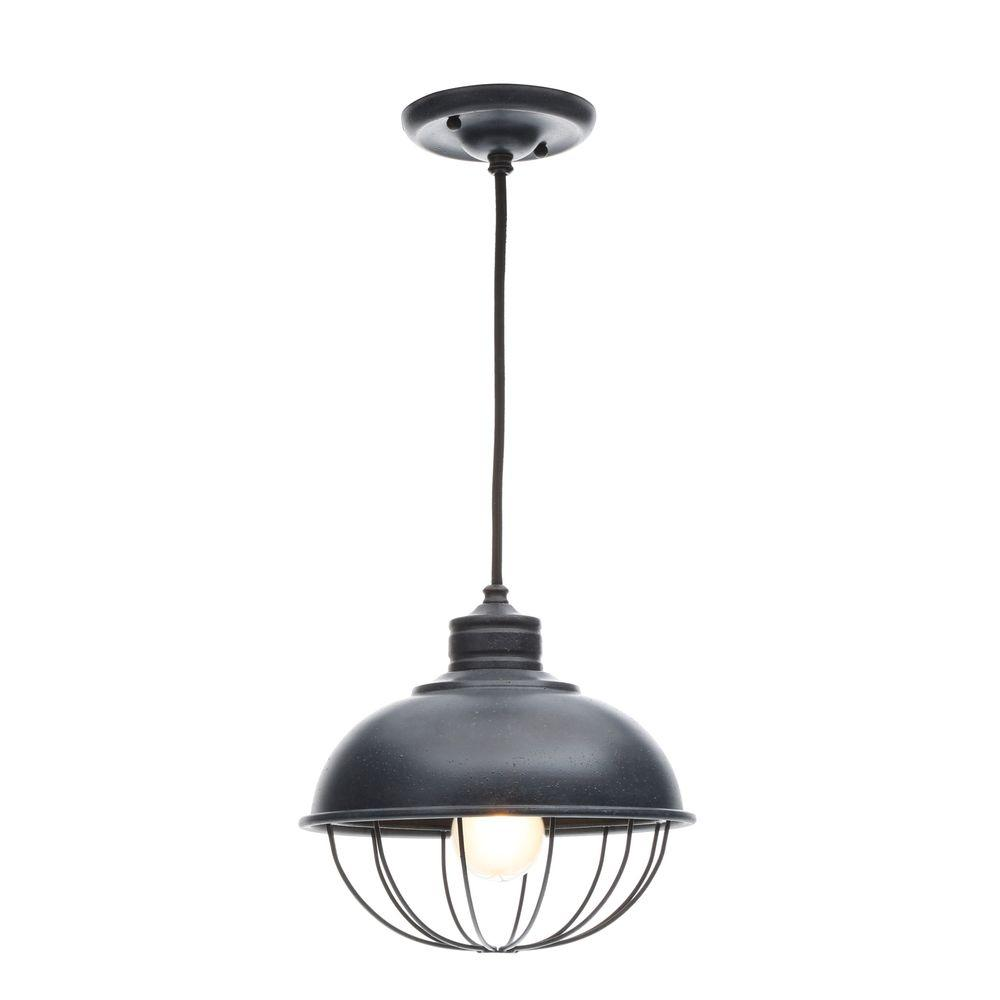 Feiss Urban Renewal 1 Light Antique Forged Iron Outdoor Hanging Pendant