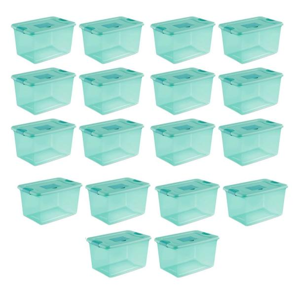 64 Qt. Fresh Scent Stackable Plastic Storage Box Container (18-Pack)