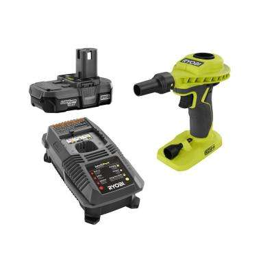 18-Volt ONE+ Lithium-Ion Cordless High Volume Power Inflator with One 2.0 Ah Battery and Charger