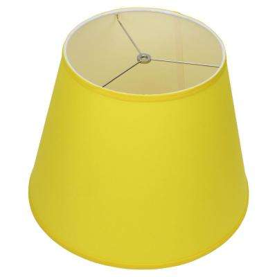 11 in. Top Diameter x 17 in. Bottom Diameter x 13 in. Slant Linen Citrus Empire Lamp Shade