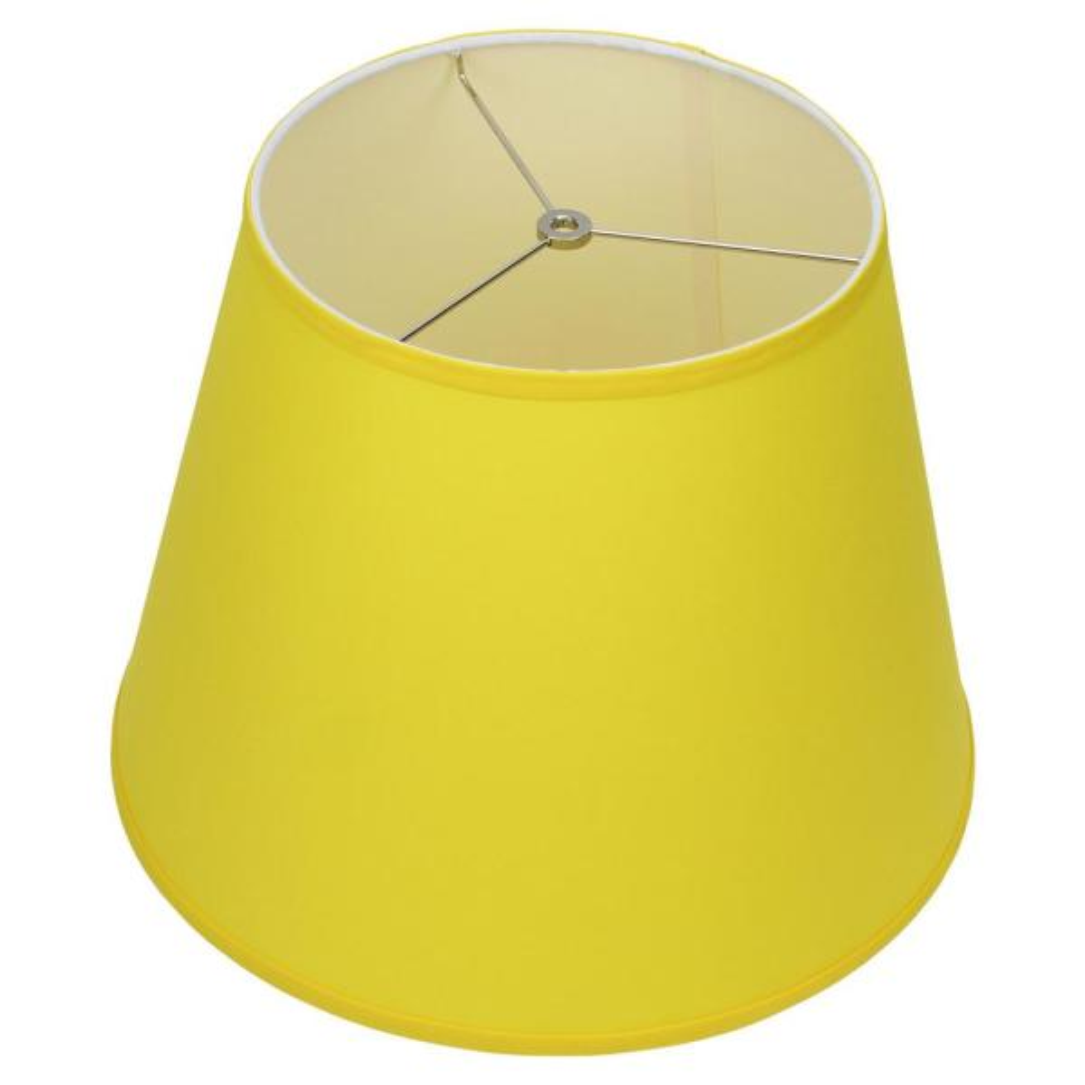 11 in. Top Diameter x 17 in. Bottom Diameter x 13 in. Slant Linen Citrus Empire Lamp Shade
