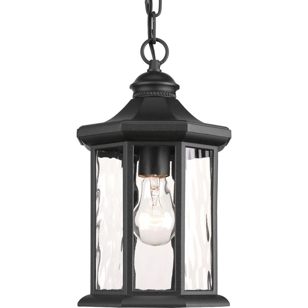 hanging outdoor lights progress lighting edition collection 1 light black outdoor 28707