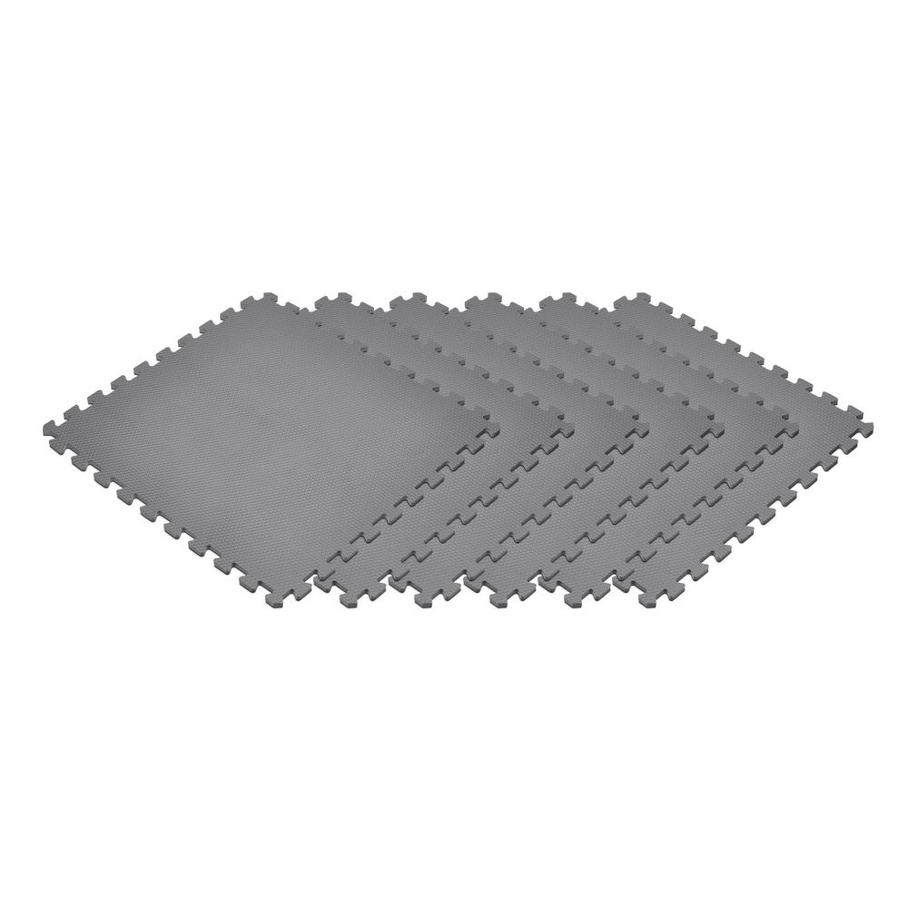 Gray 24 in. x 24 in. x 0.47 in. Foam Garage