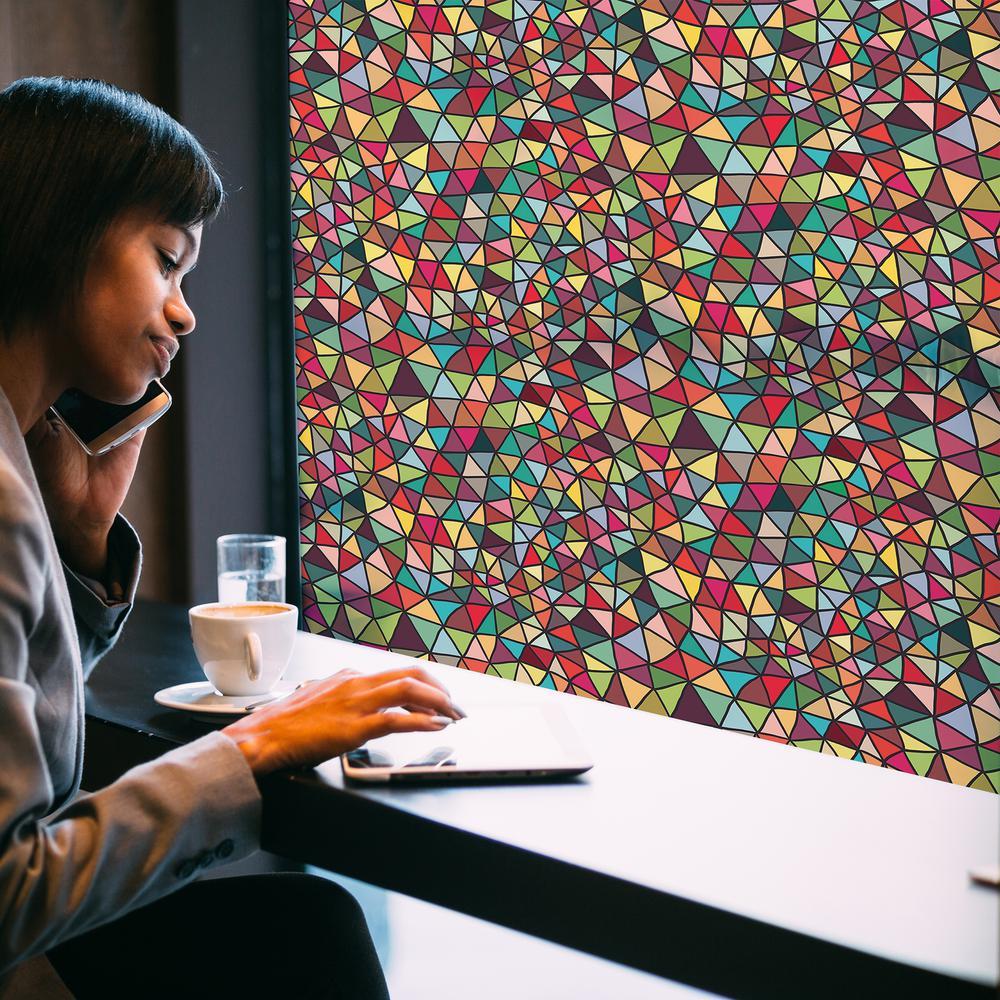 70.86 in. x 17.71 in. Modern Tiffany Premium Window Film
