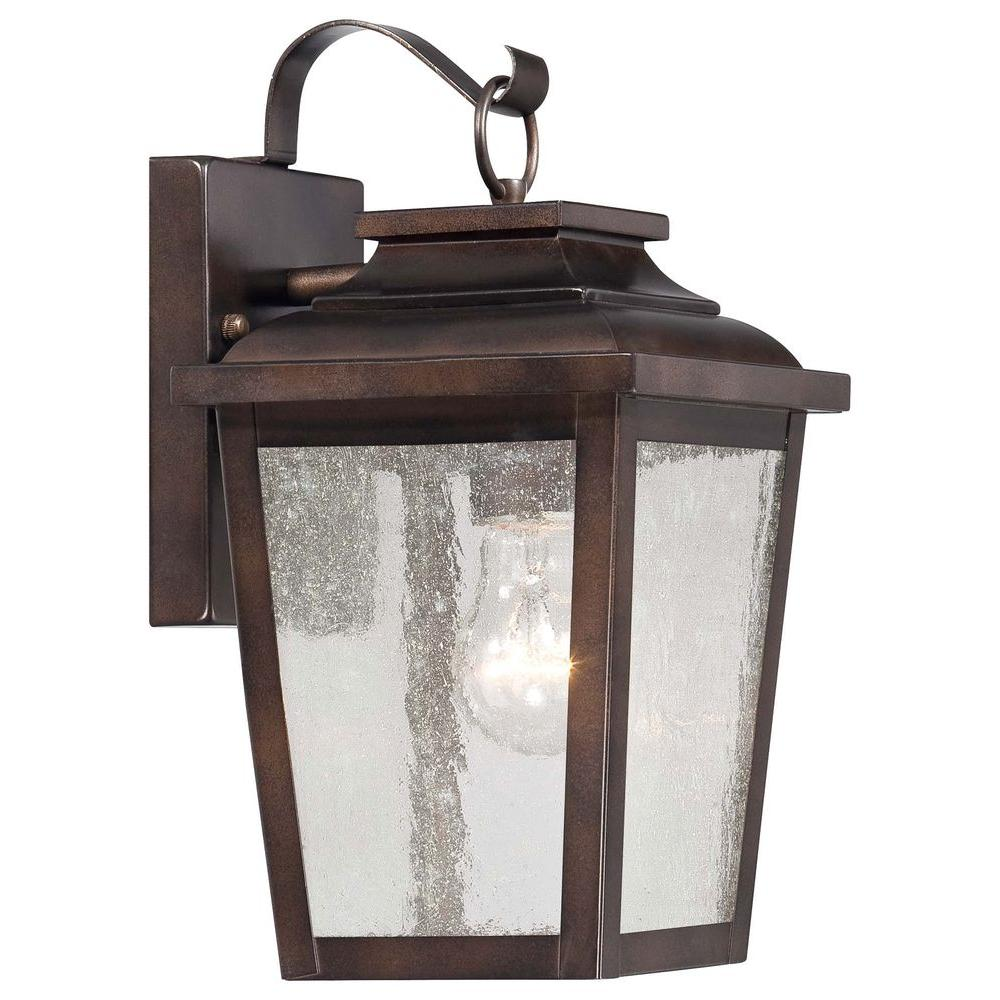 Irvington Manor 1-Light Chelsea Bronze Outdoor Wall Mount Lantern