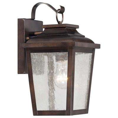 Irvington Manor 1-Light Chelsea Bronze Outdoor Wall Mount