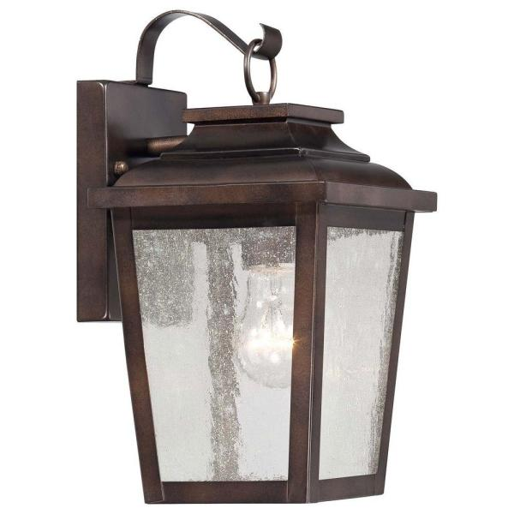 Irvington Manor 1-Light Chelsea Bronze Outdoor Wall Lantern Sconce