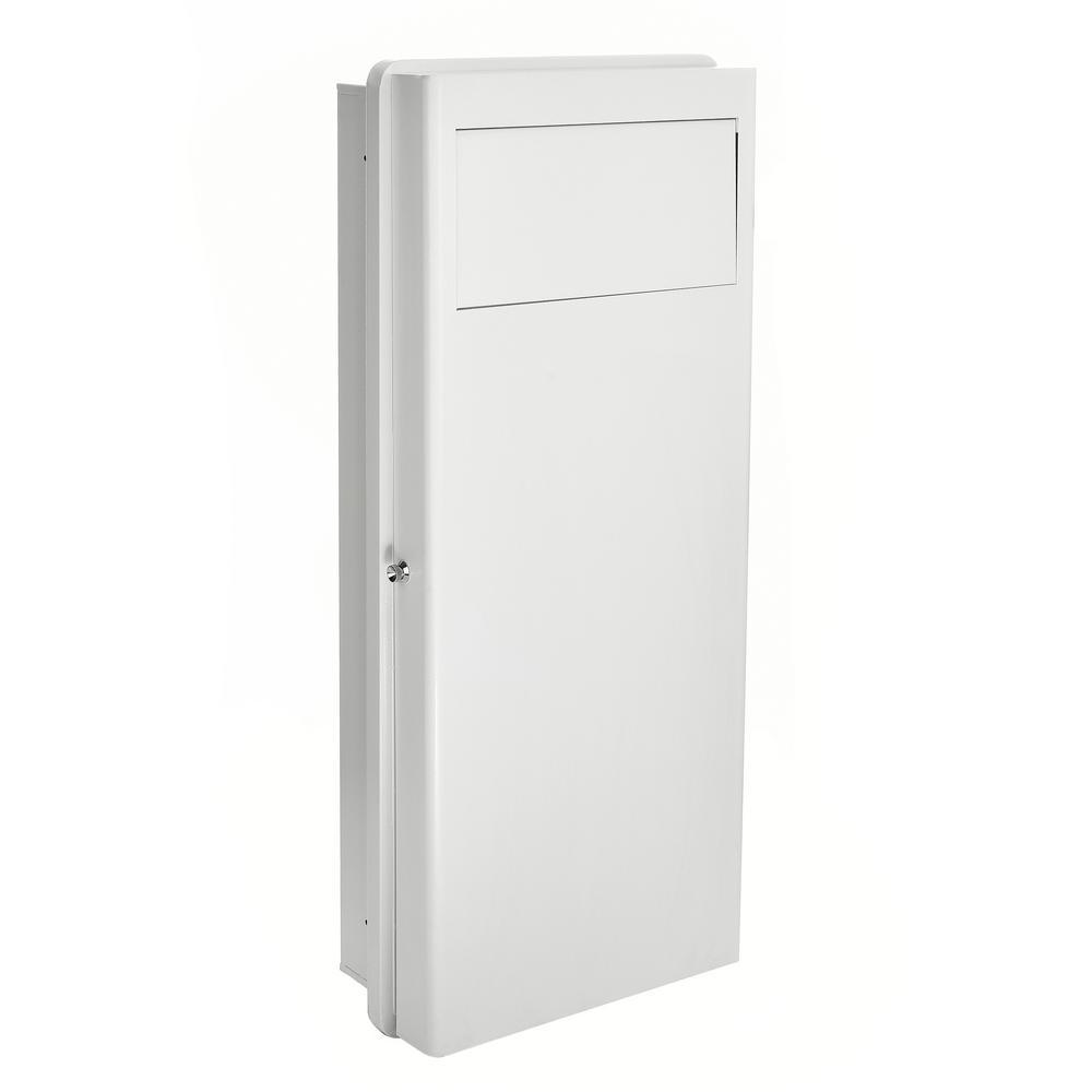 7.25 in. W Built-In Wall Laundry Hamper in White