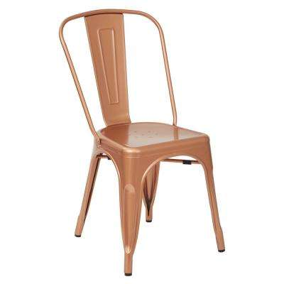 Bristow Copper Armless Metal Chair (2-Pack)