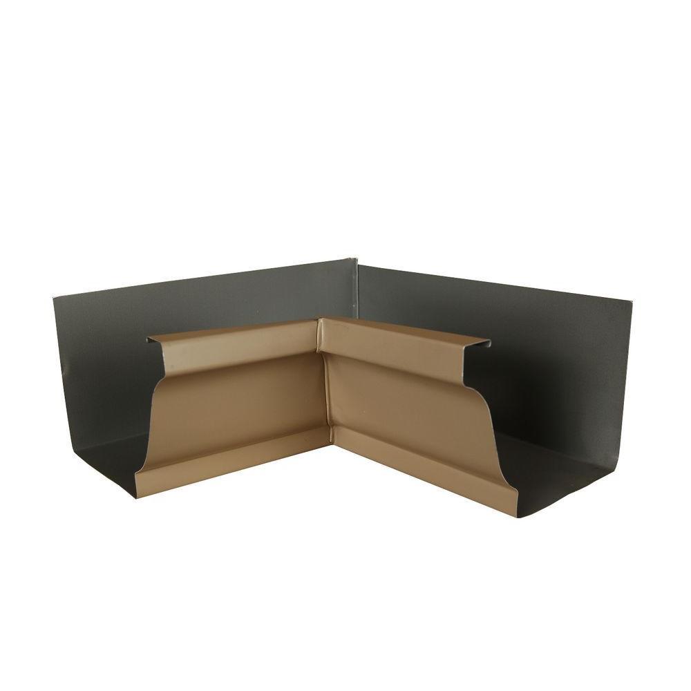 6 in. Pebblestone Clay Aluminum Inside Box Gutter Miter