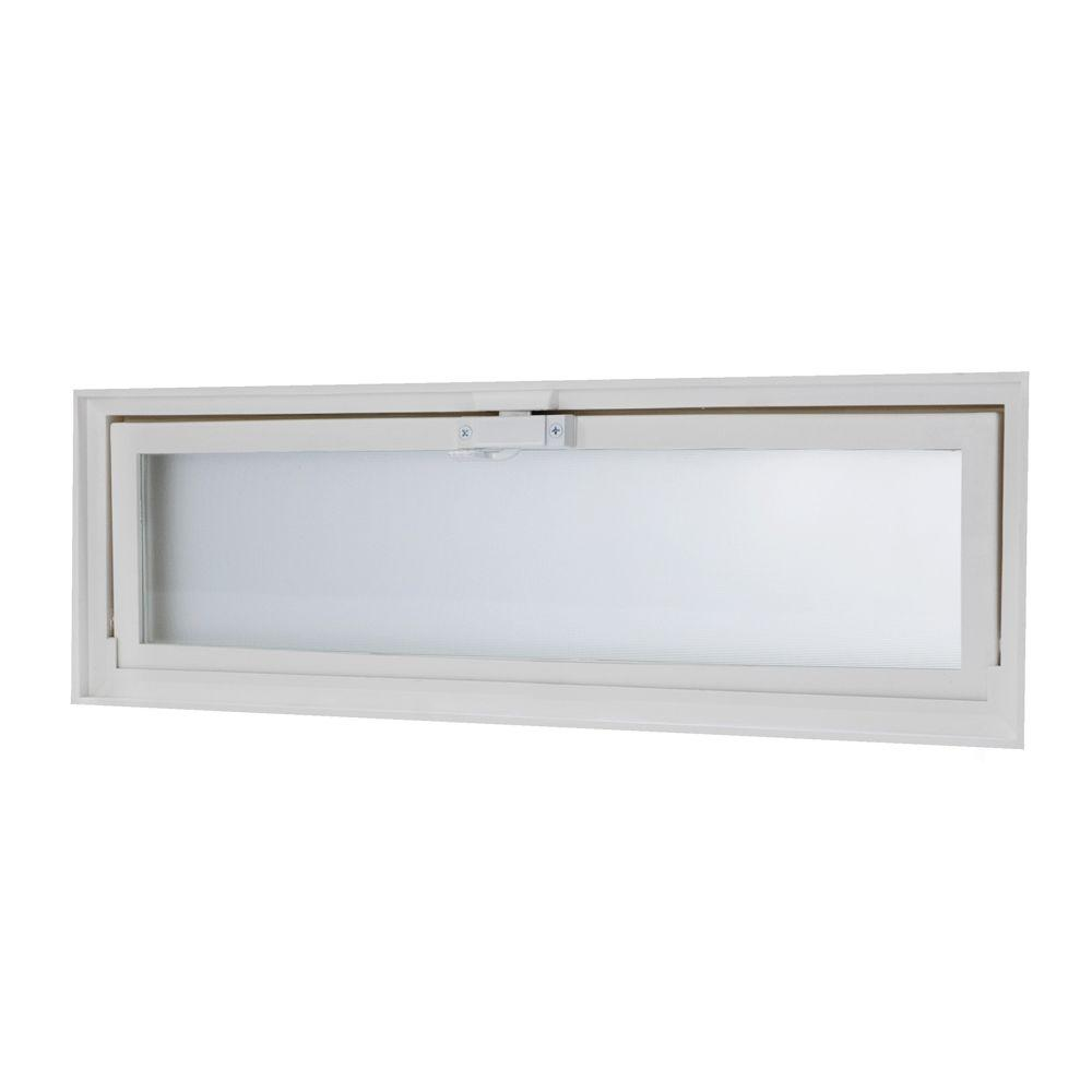 TAFCO WINDOWS 23.25 in. x 7.75 in. Glass Block Replacement Hopper ...
