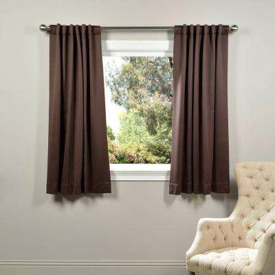 Semi-Opaque Java Brown Blackout Curtain - 50 in. W x 63 in. L (Panel)