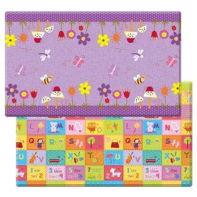 Garden Delight-Violet 4 ft. 6 in. x 7 ft. 6 in. Play Mat