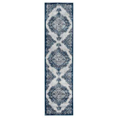 Alexis Navy Medallion 2 ft. 6 in. x 10 ft. 3 in. Runner Rug